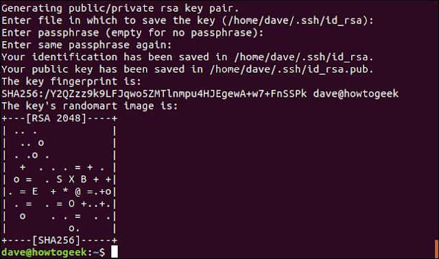 اكتمال إنشاء المفاتيح وعرضها بشكل عشوائي في إطار