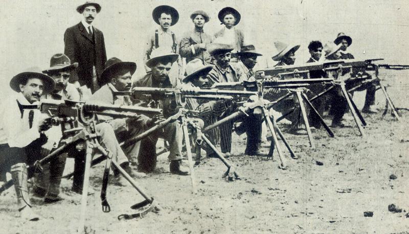 ¿Cuáles fueron las armas más usadas durante la revolución?