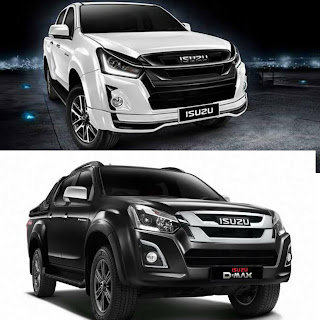isuzu d-max stealth edition  stallion black and slick white
