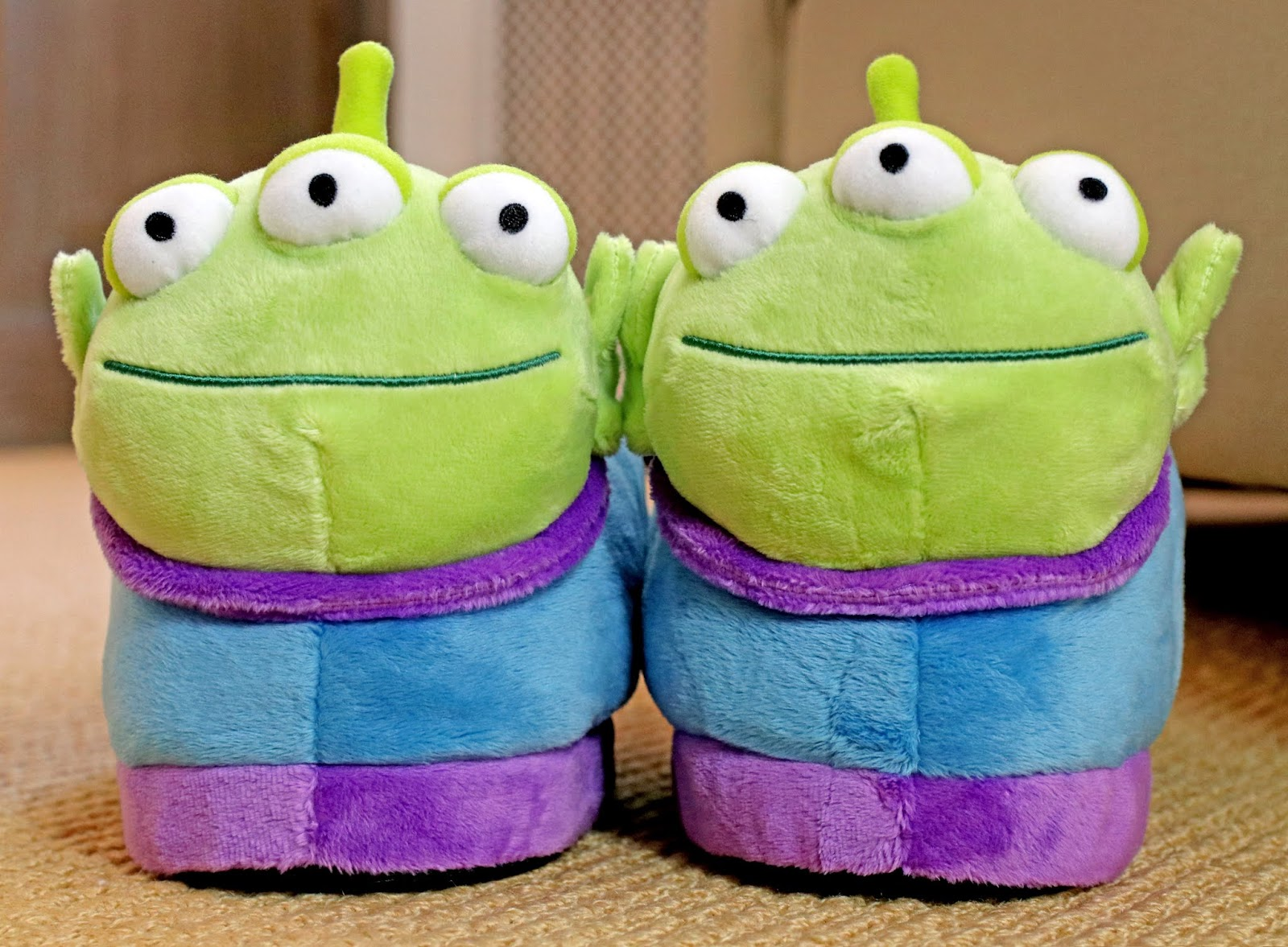toy story alien plush slippers happy feet review