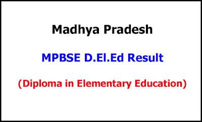 MP D.El.Ed Exam Result