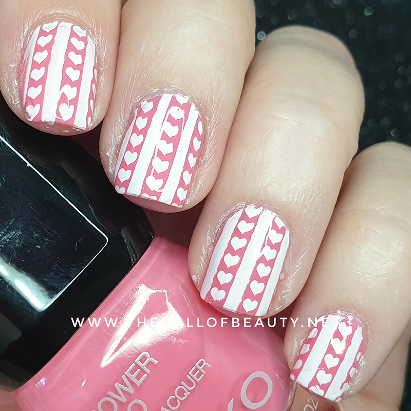 Nail Art of the Day: Hearts and Stripes