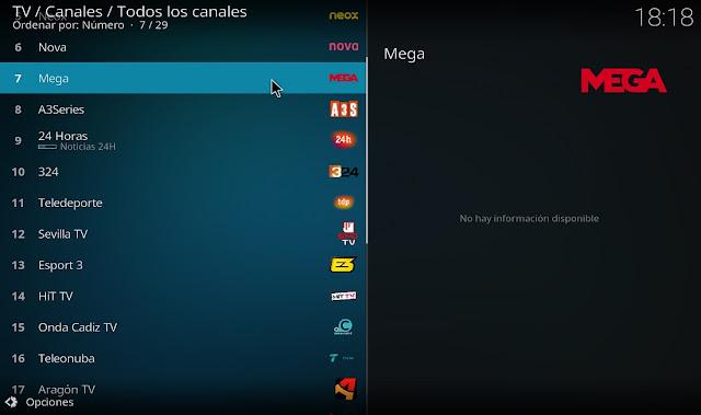 Listado de canales de tv de españa