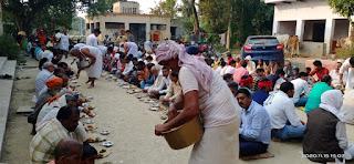 गोवर्धन पूजा पर भण्डारा आयोजित | #NayaSaberaNetwork