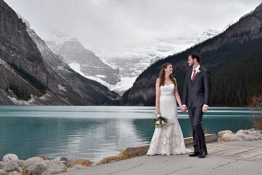 Gorgeous Elopement Fairmont Lake Louise