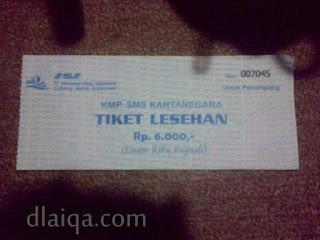 tiket masuk ruang lesehan