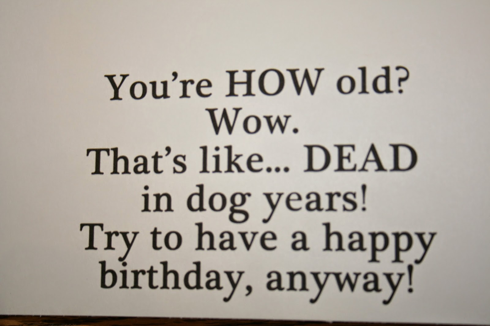 Creative Touch by Krystal : Funny Birthday Card for ...