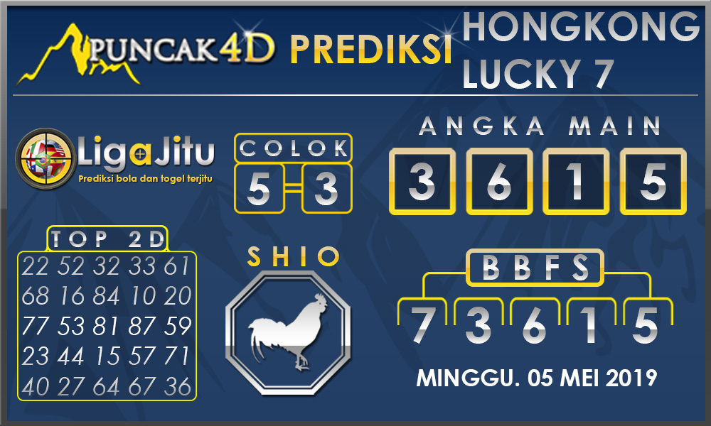 PREDIKSI TOGEL HONGKONG LUCKY7 PUNCAK4D 05 MEI 2019