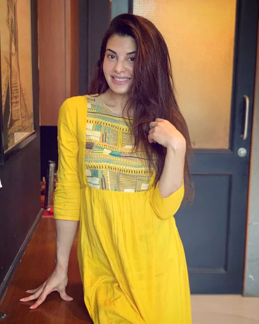 Jacqueline Fernandez yellow dress