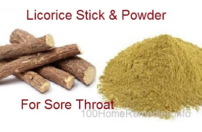 Licorice for sore throat and cough