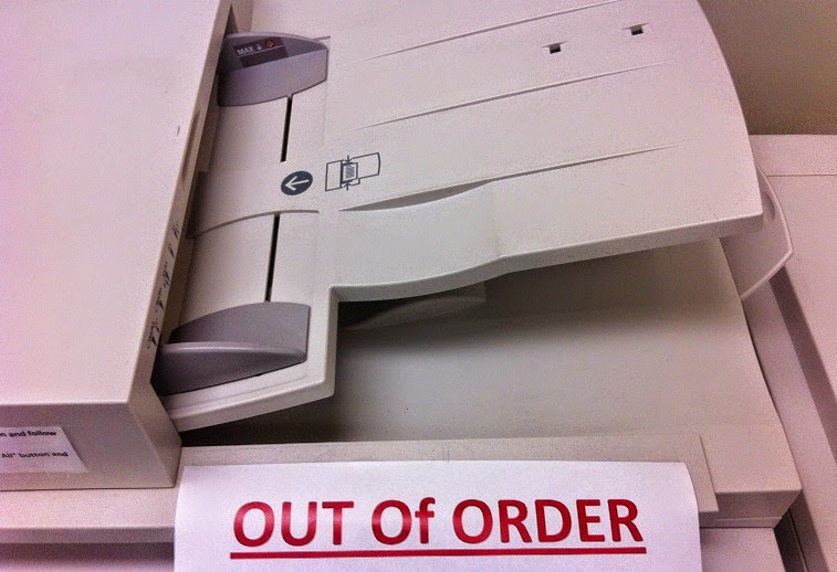 Photo copier that does not work