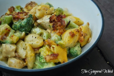 Chicken and Broccoli Mac and Cheese with Bacon (The Gingered Whisk)
