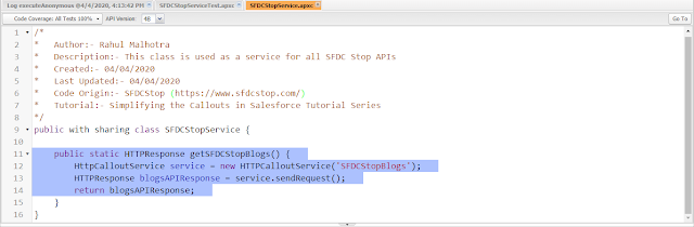 100% code coverage for apex HTTP Callout in Salesforce without creating a mock class