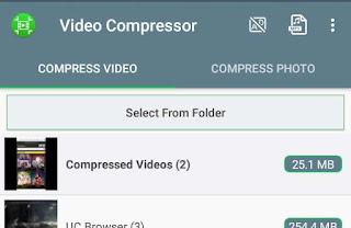 Video Compressor app homepage