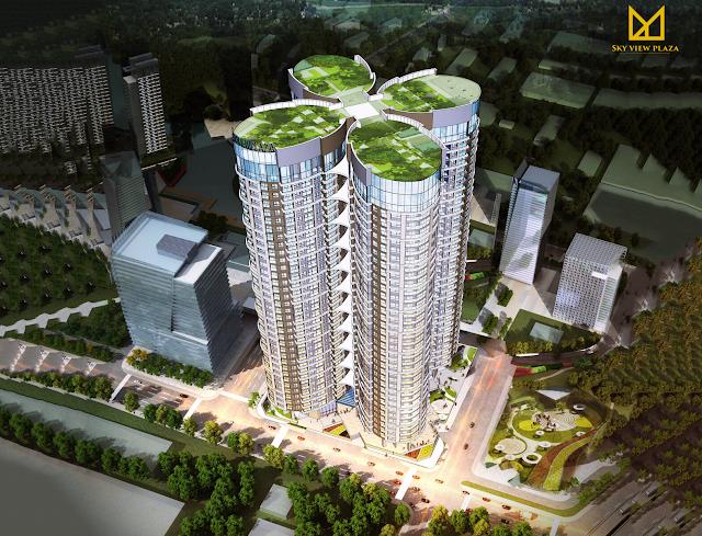 Phối cảnh của chung cư Sky View Plaza Giải Phóng