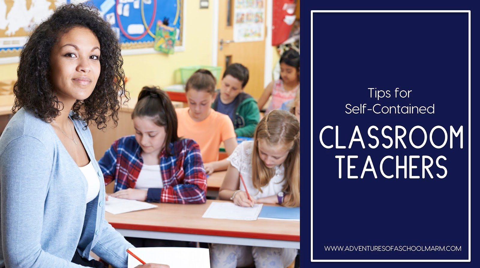 Self-contained teachers keep their homeroom students all day and teach them every subject.