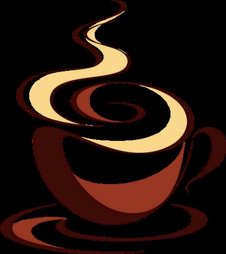 Gambar kopi kartun png