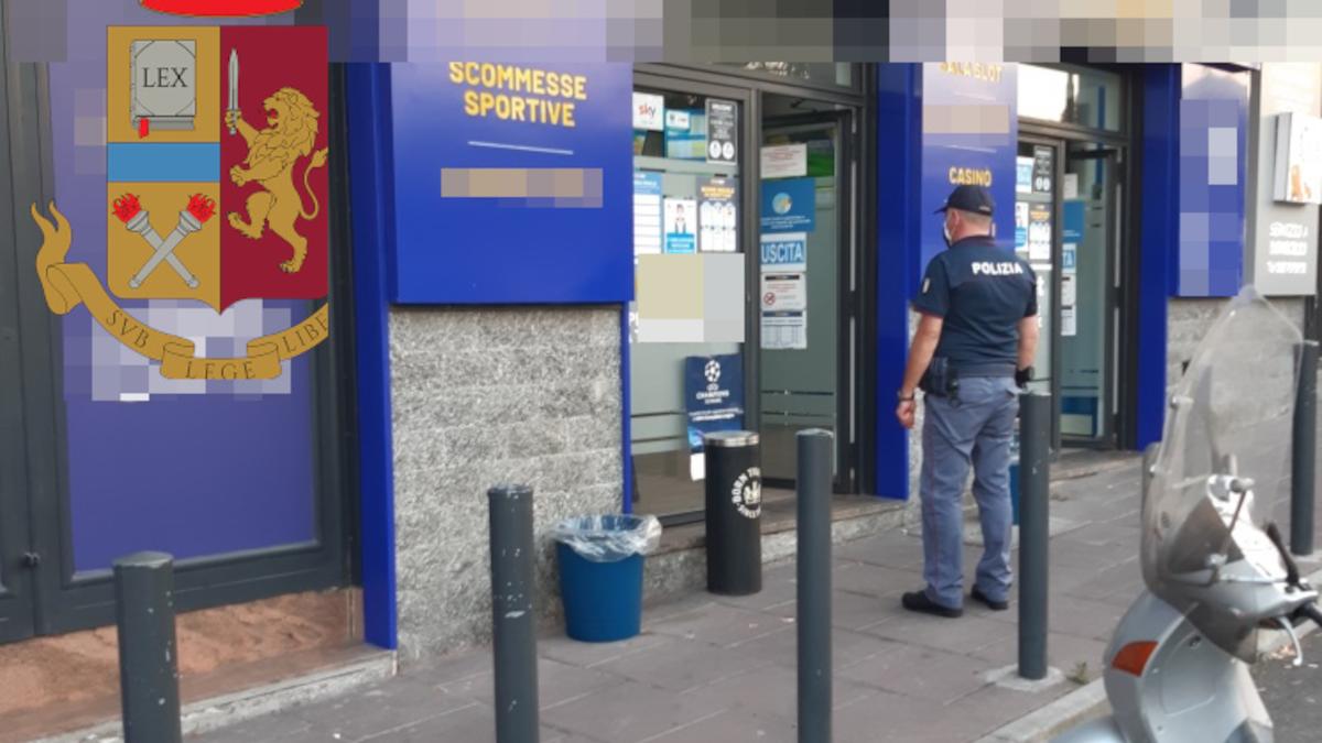 Controlli Green Pass Librino chiusa sala scommesse Polizia di Stato
