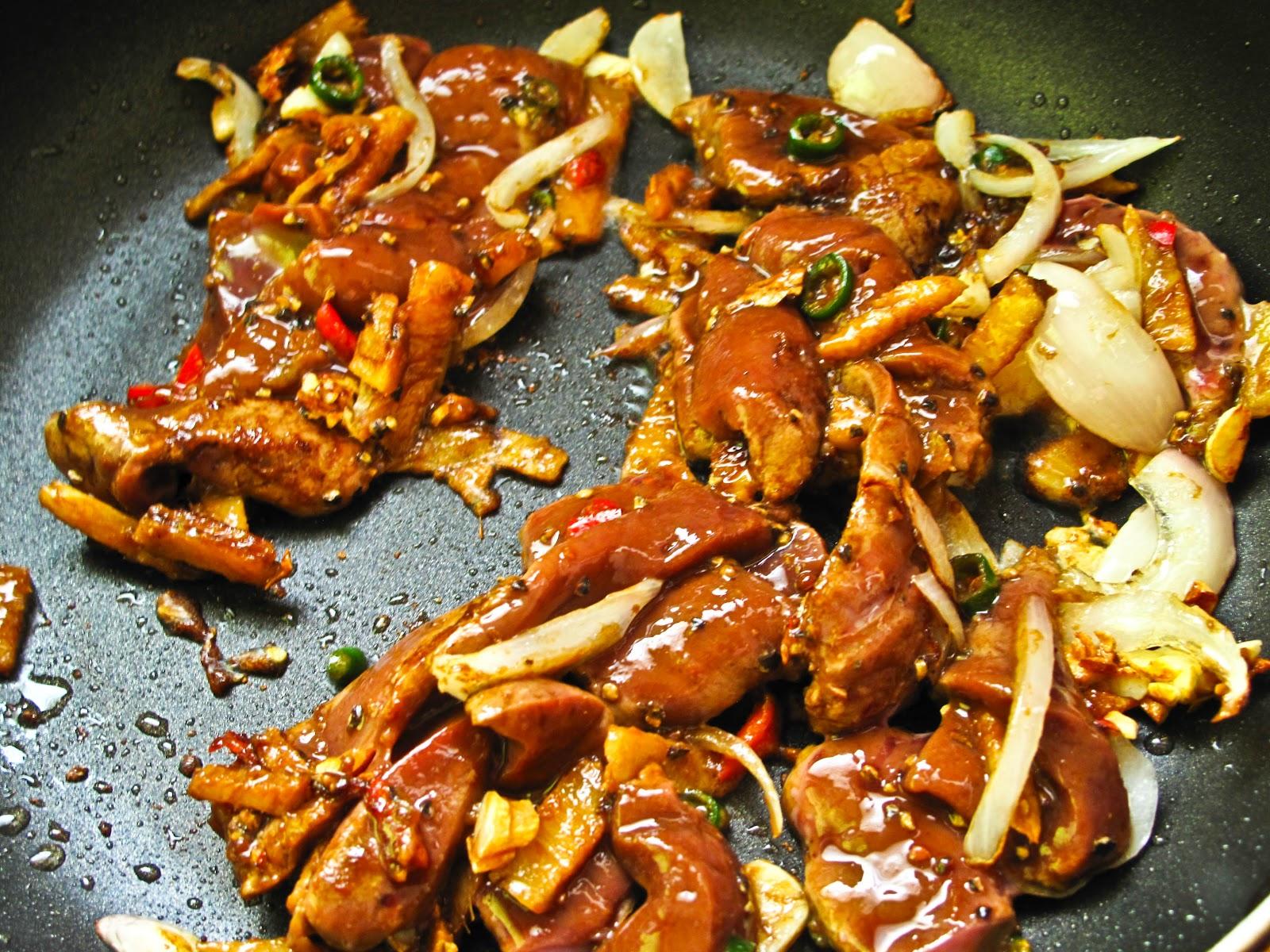 Simple Menu Spicy Black Pepper Beef Liver