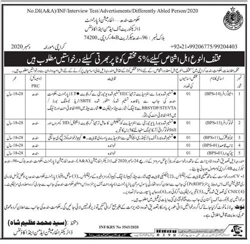 Information Department Sindh Jobs 2020 Say Job City