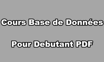 Cours Base de Données Pour Debutant PDF