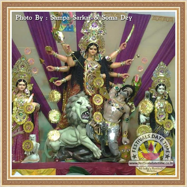 2016 Mondalhat Durga Murti Photo in West Bengal