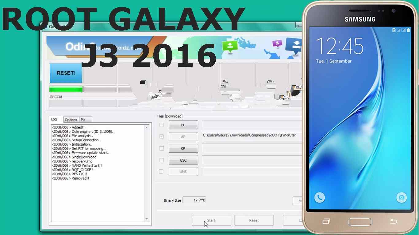 Root Samsung J3 2016 SM-J320FN, J320F, J320G, J320H, J320M روت
