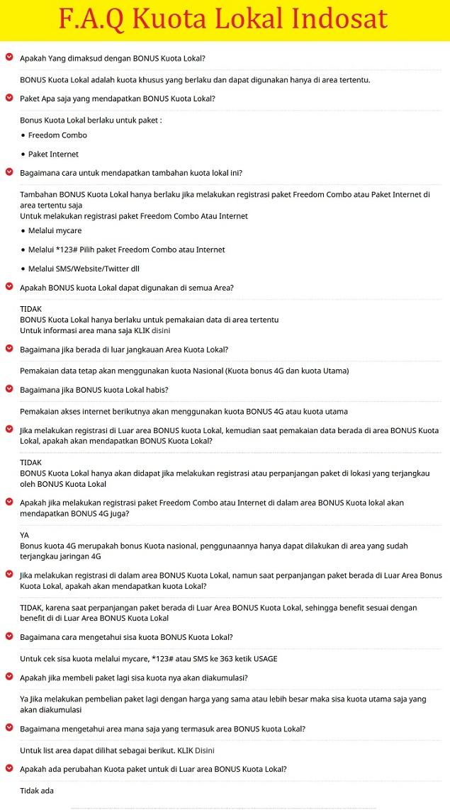 Syarat dan ketentuan kuota lokal Indosat