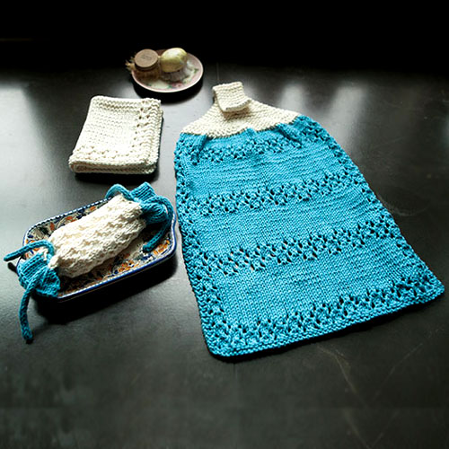 A Little Bit of Lace Bath Set - Free Pattern