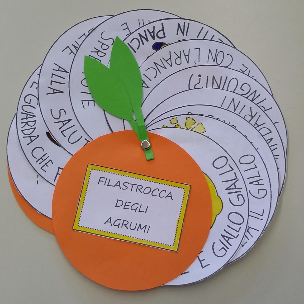 La maestra linda filastrocca degli agrumi for Maestra infanzia