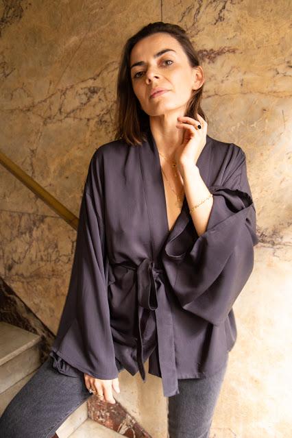 kimono z wiskozy