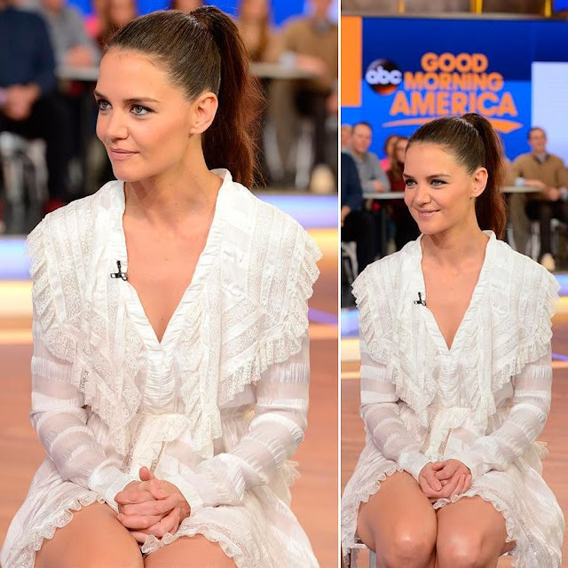 Katie Holmes - at Good Morning America