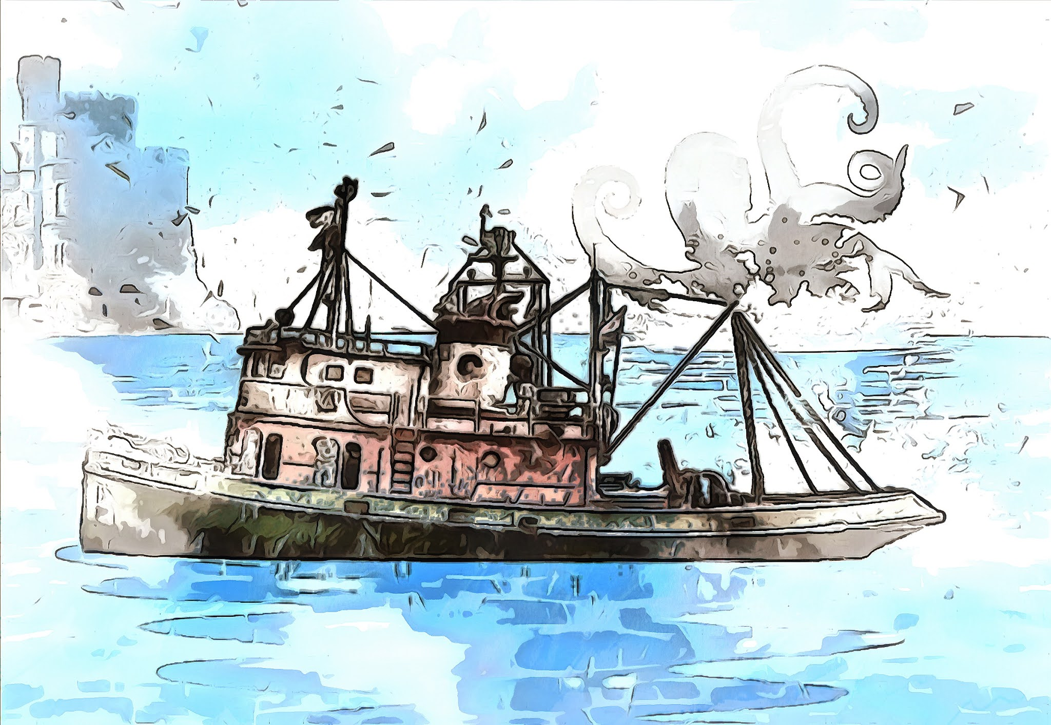 Mysterious ship