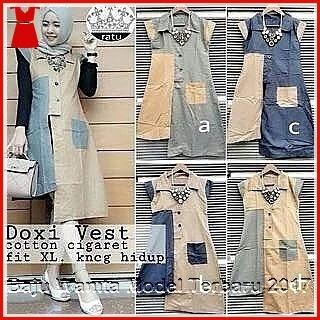 6GBDB Tunik Vest Wanita Elegan Armotif Hijab Bj2906