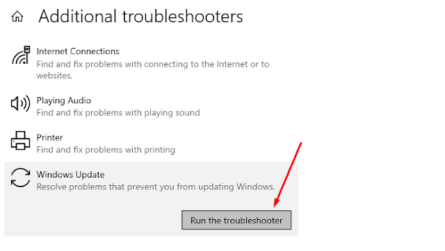 Run the troubleshooter
