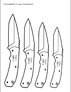 picture relating to Printable Knife Templates known as Do it yourself Knifemakers Facts Heart: Knife Types