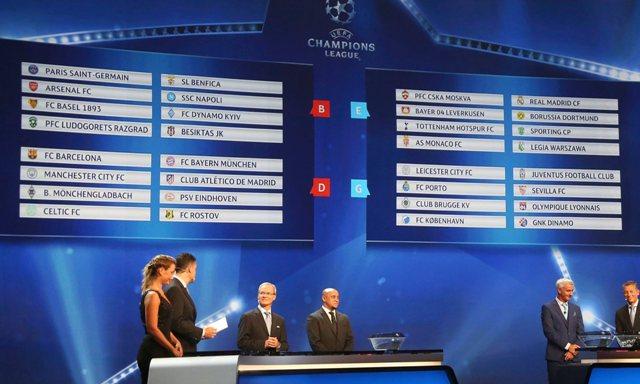 Daftar Hasil Drawing Fase Grup Liga Champions 2016