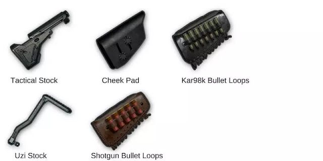 Fungsi Semua Attachment (Muzzle, Foregrip, Stock) Di Game PUBG Mobile