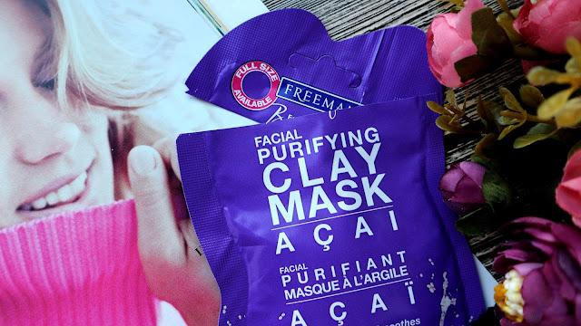 Freeman Feeling Beautiful Очищающая глиняная маска для лица с экстрактом ягоды асаи