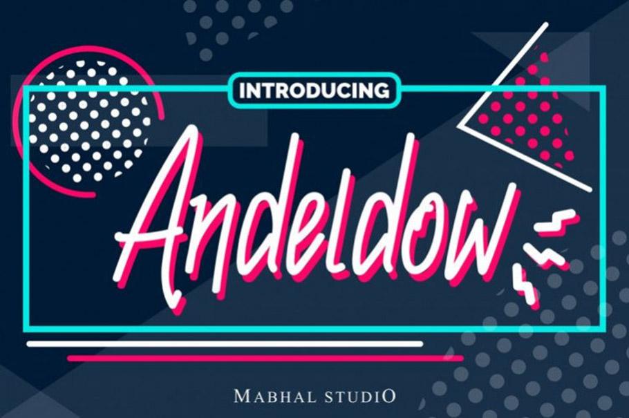Andeldow Font  - Free Script Typeface