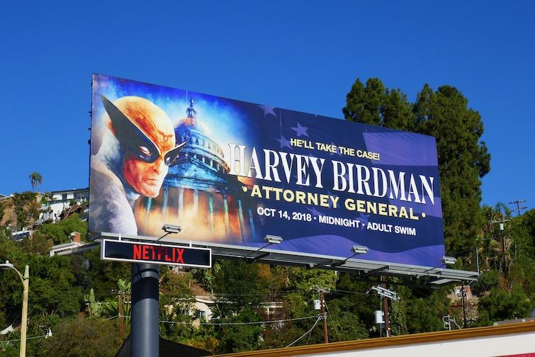 Harvey Birdman Attorney General billboard