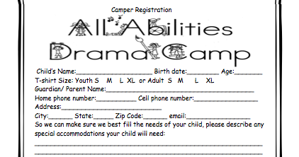 All Abilities Drama Camp, INC : INFO for 2013-- Registration