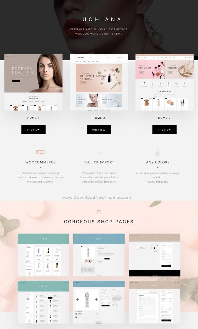 Cosmetics Store & Beauty Shop WooCoomerce Theme