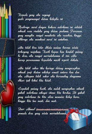 Contoh Surat Cinta Romantis untuk Cewek