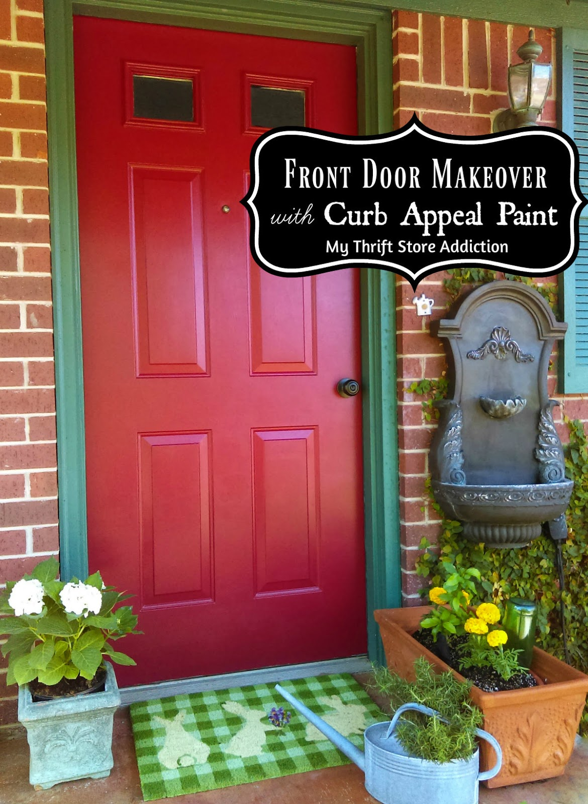 Curb Appeal paint front door makeover