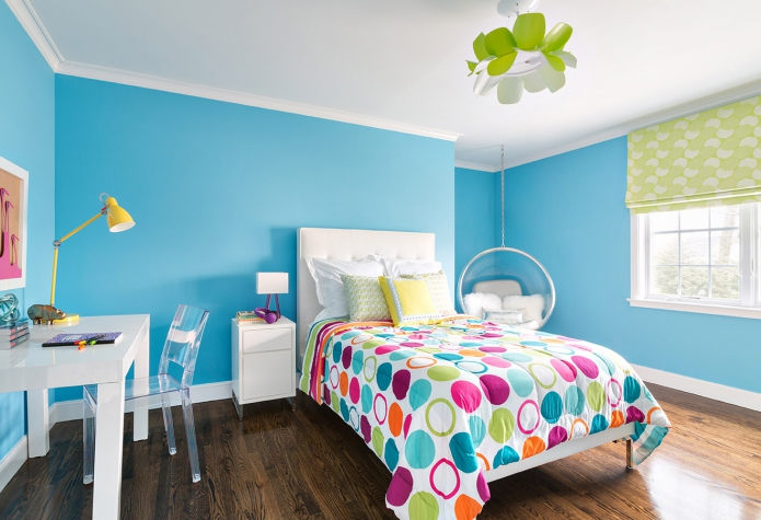 Children room Color Scheme : Bedroom in turquoise colors with photos ...