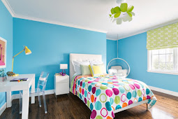 Children room Color Scheme : Bedroom in turquoise colors with photos