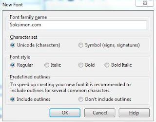 cara membuat font sendiri dengan software font creator