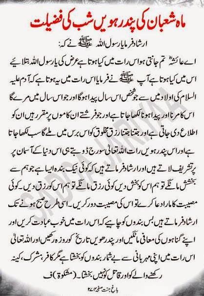 Shab-e-Barat ki Fazilat