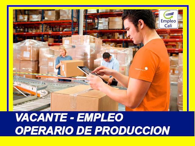 Oferta de Trabajo y Empleo en Cali como Operario de Produccion